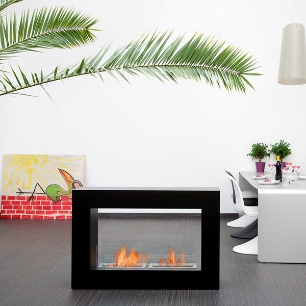 Qube Bio Ethanol Fuel Fireplace Finish: Black, Size: Small - Black