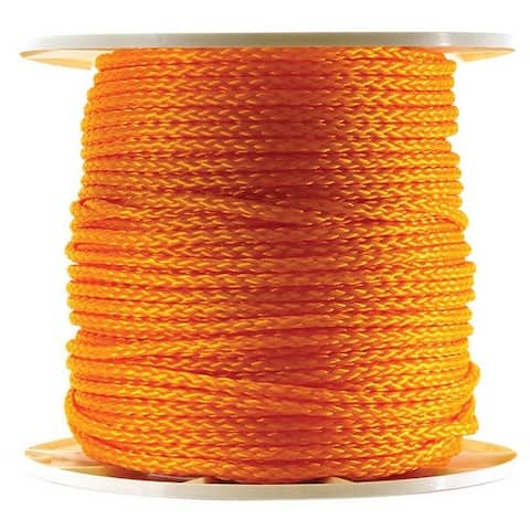 "Wellington P9024S0600Y01S Twisted Poly Rope Spool, 3/8"" x 600', Orange"