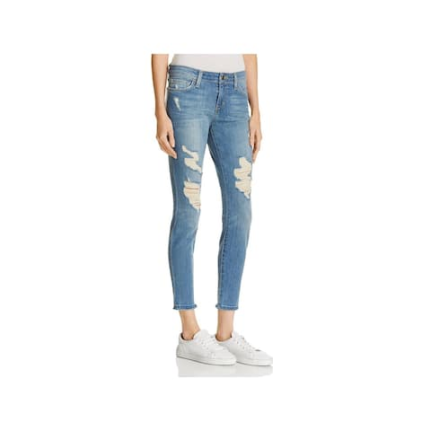 2f19773b793 Joe s Jeans Womens Skinny Jeans Destroyed Cropped