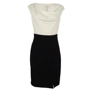 Laundry Women's Cowl Neck Sheath Dress - Warm White