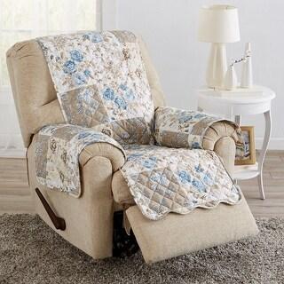 Great Bay Home Maribel Floral Patchwork Reversible Recliner Furniture Protector