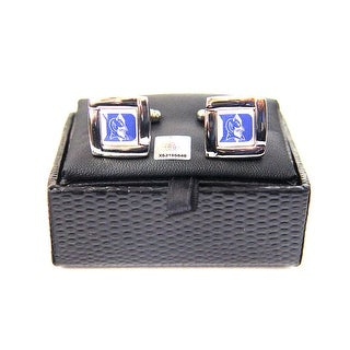 NCAA Duke Blue Devils Square Cufflinks with Square Shape Logo Design Gift Box Set