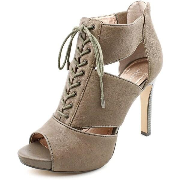 BCBGeneration Jevida Women Peep-Toe Leather Bootie