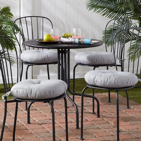 Outdoor15-inch Round Bistro Chair Cushion (Set of 4)