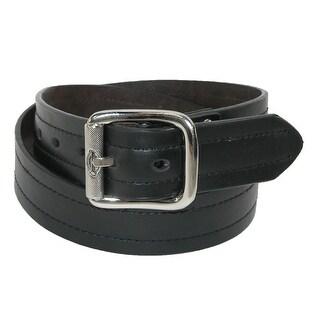 Dickies Men's Leather Reversible Industrial Strength Work Belt - black to brown