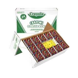 Crayola Non-Toxic Crayon Classroom Pack with 2-Sharpener, Assorted Color, Pack of 832