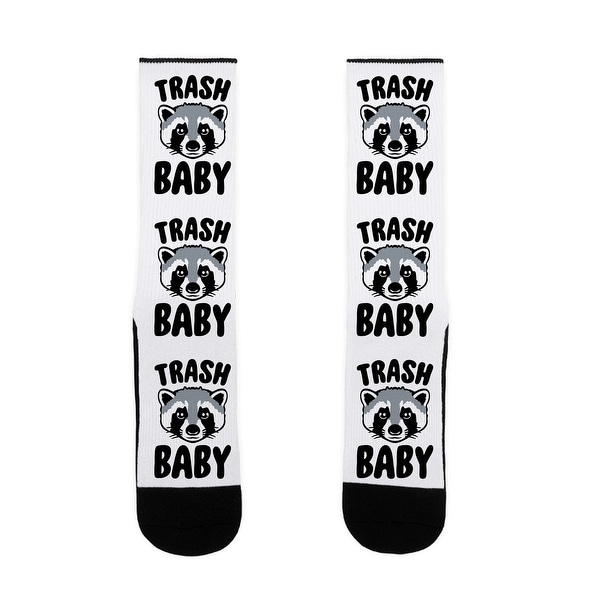 LookHUMAN Trash Baby US Size 7-13 Socks