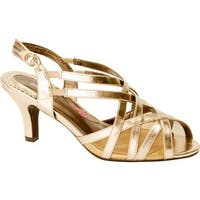 Ros Hommerson Women's Lacey Matte Gold PU