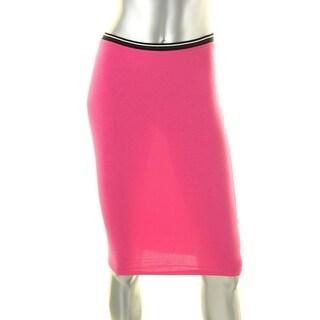 Ultra Flirt Womens Juniors Pencil Skirt Colorblock Stretch Pink S