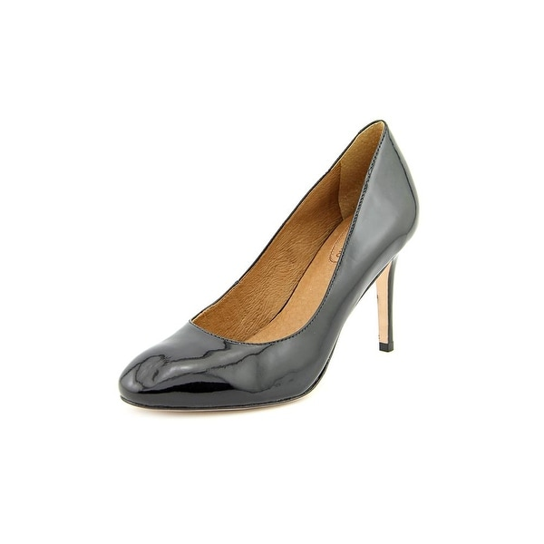 Corso Como Del Women Round Toe Patent Leather Black Heels