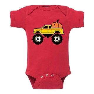 Pumpkin Truck - Infant One Piece