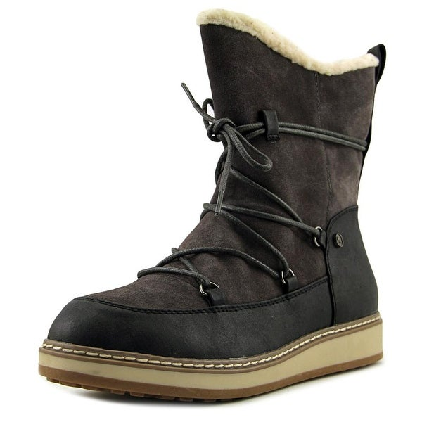 White Mountain Topaz Women Round Toe Suede Brown Snow Boot