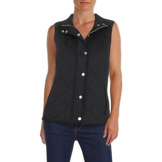 Lauren Ralph Lauren Womens Outerwear Vest Quilted Zip Front - s