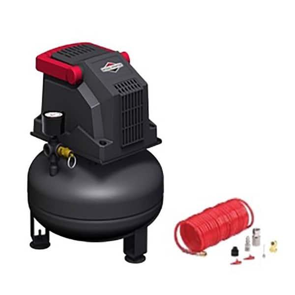 Shop Briggs Stratton 1 Gal Pancake Portable Air Compressor Kit 100 Psi 0 2 Hp Overstock 32081167