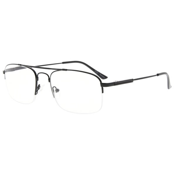 Eyekepper Half-Rim Reading Glasses Memory Titanium Bendable Readers. Opens flyout.