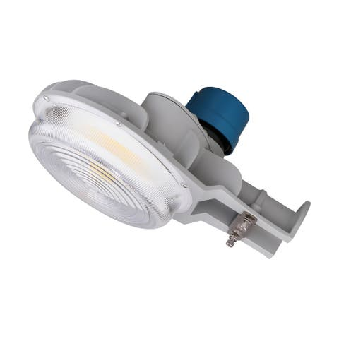 40 Watt LED Area Light CCT Selectable Photocell Dimmable Gray 120-277