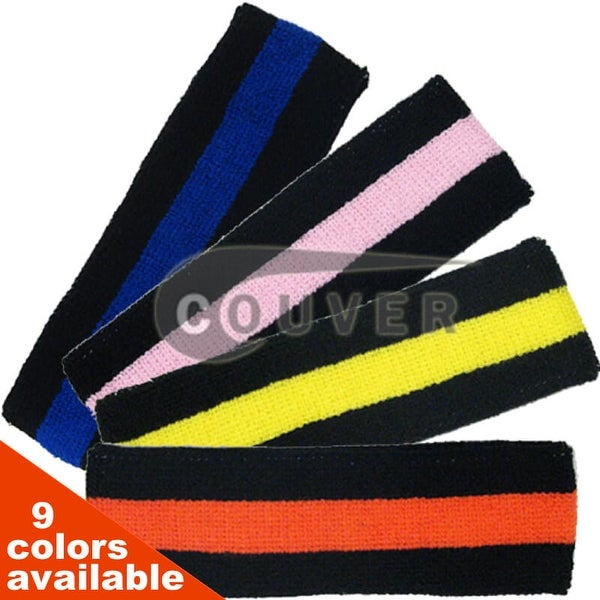 e71d288ed223 Shop Black Striped COUVER Signature Head Sweatbands for Sports 6 Mixed  Pieces - Free Shipping On Orders Over  45 - Overstock - 14124865