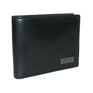 Kenneth Cole Reaction Men's Leather Montrose Traveler Passcase Bifold Wallet - Black - One Size