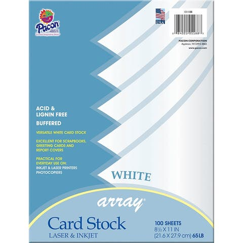Array (2 pk) array card stock white 101188bn
