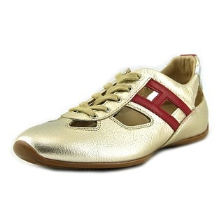 Hogan Sprint Atletica Allacciat Women Round Toe Leather Gold Sneakers