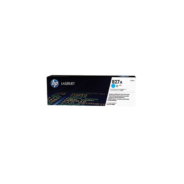 HP 827A Cyan Original LaserJet Toner Cartridge (CF301A)(Single Pack)