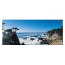 Poster Print entitled Rocky coastline