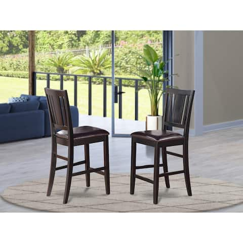 Copper Grove Crowsnest Black Finish Counter Height Chair (Set of 2)