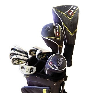 New RAM G-Force 13pc Teen Complete Golf Club Set + Stand Bag RH - black / yellow / gray