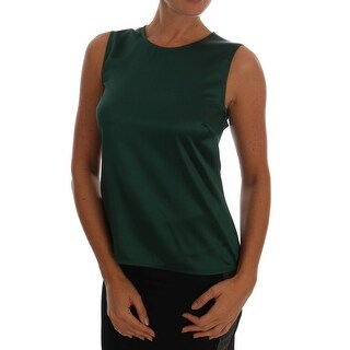 Dolce & Gabbana Dolce & Gabbana Green Silk Stretch Tank Top