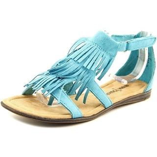 Minnetonka Maya Youth Open Toe Synthetic Blue Gladiator Sandal