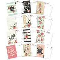 Monthly; Undated - Carpe Diem Bloom Double-Sided A5 Planner Inserts