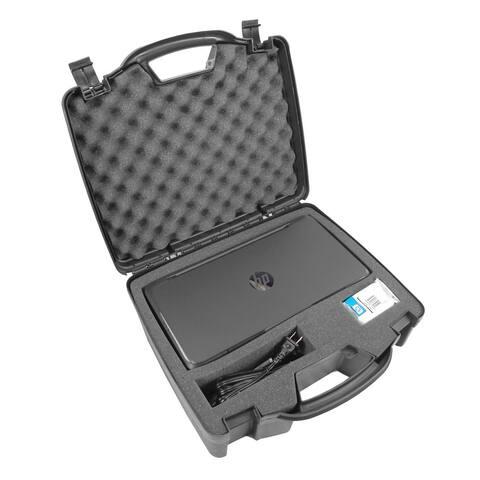 CASEMATIX TOUGH Printer Carry Case Custom Designed to fit HP Officejet 200 Wireless Mobile Printer - Black