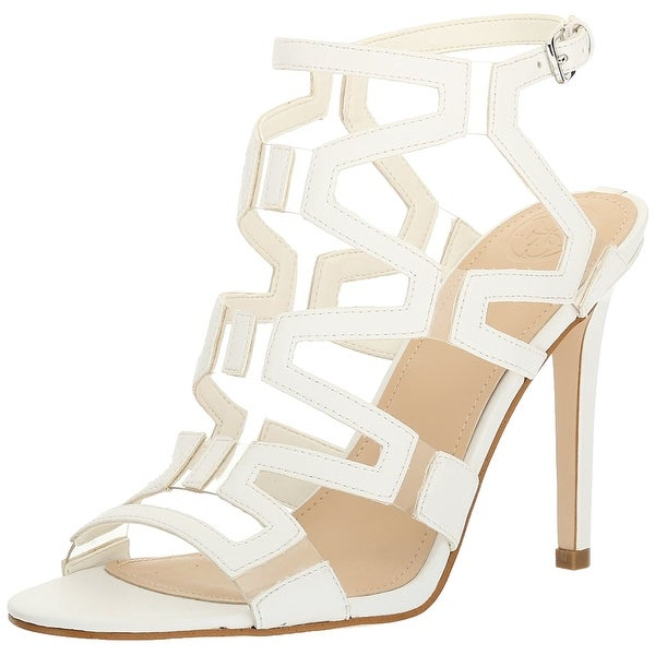 GUESS Womens Padton3 Leather Almond Toe Special Occasion Strappy Sandals