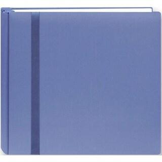 "Snapload Cloth W/Ribbon Album 8""X8""-Blue - Blue"