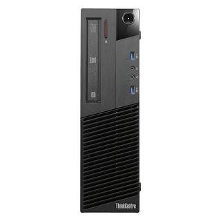Refurbished Lenovo ThinkCentre M83 SFF Intel Core I5 4570 3.2G 16G DDR3 2TB DVD Win 10 Pro 1 Year Warranty - Black