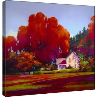 """PTM Images 9-101283  PTM Canvas Collection 12"""" x 12"""" - """"Back Porch"""" Giclee Rural Art Print on Canvas"""