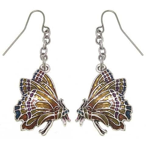 Monarch Butterfly Pewter Earrings