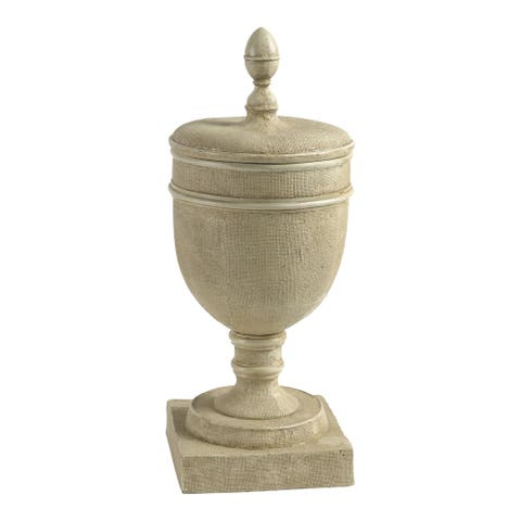 A&B Home Chester 22-inch Tan Vase with Lid
