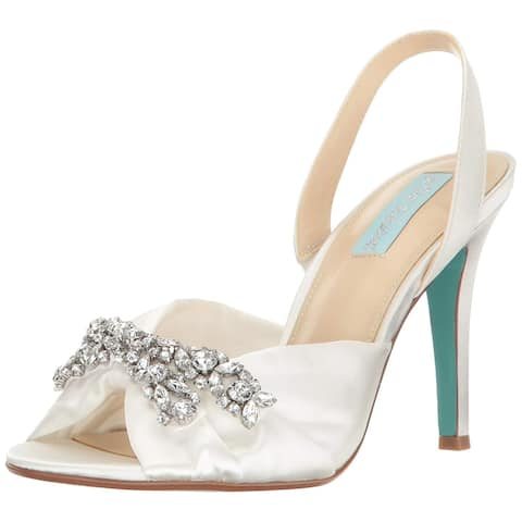 d10c760c343ca Betsey Johnson Womens SB-Briel Fabric Peep Toe Special Occasion Slingback  San.