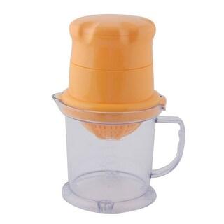 Unique Bargains Kitchen Plastic Citrus Orange Lemon Fruit Manual Juicer Extractor Squeezer 450ml