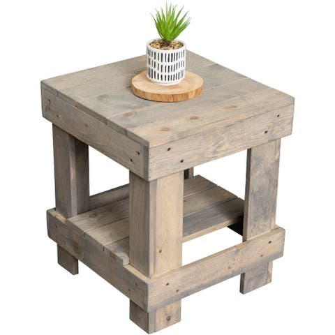 Landmark Pine Wood End Table
