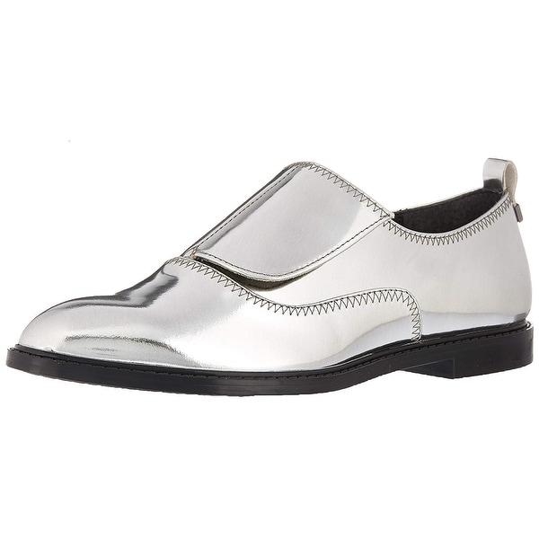 2f485146cf0f Shop Calvin Klein Women s Dayo Metallic Oxford Flat - Free Shipping ...