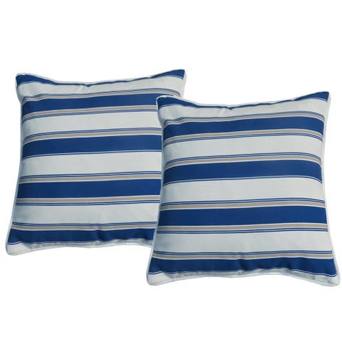 Moda 2 Piece Patio Square Throw Pillow Case Decorative Waterproof