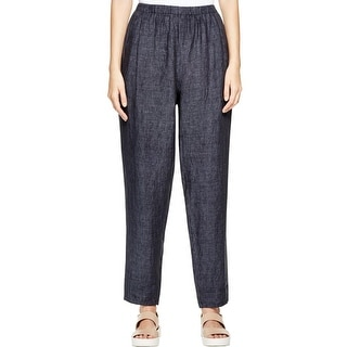 Eileen Fisher Womens Casual Pants Denim Relaxed - S