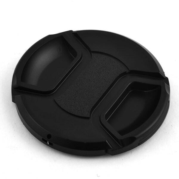 Plastic Front Snap Digital Camera Clip-on Lens Cap Cover Black 67mm w Cord
