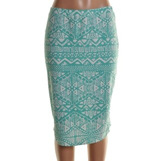 Say What? Womens Pencil Skirt Matte Jersey Printed - M