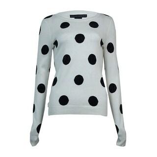 Grace Elements Women's Embellished Polka Dot Sweater - S