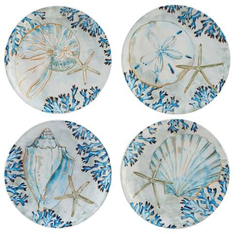 Certified International Playa Shells 8.5-inch Salad/Dessert Plates, Set of 4