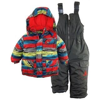 Rugged Bear Baby Boys Puffer Ski Jacket Snowsuit Snowboarding Winter Gear