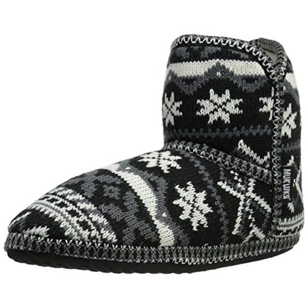 Muk Luks Womens Mukluk Slippers Knit Faux Fur Free Shipping On